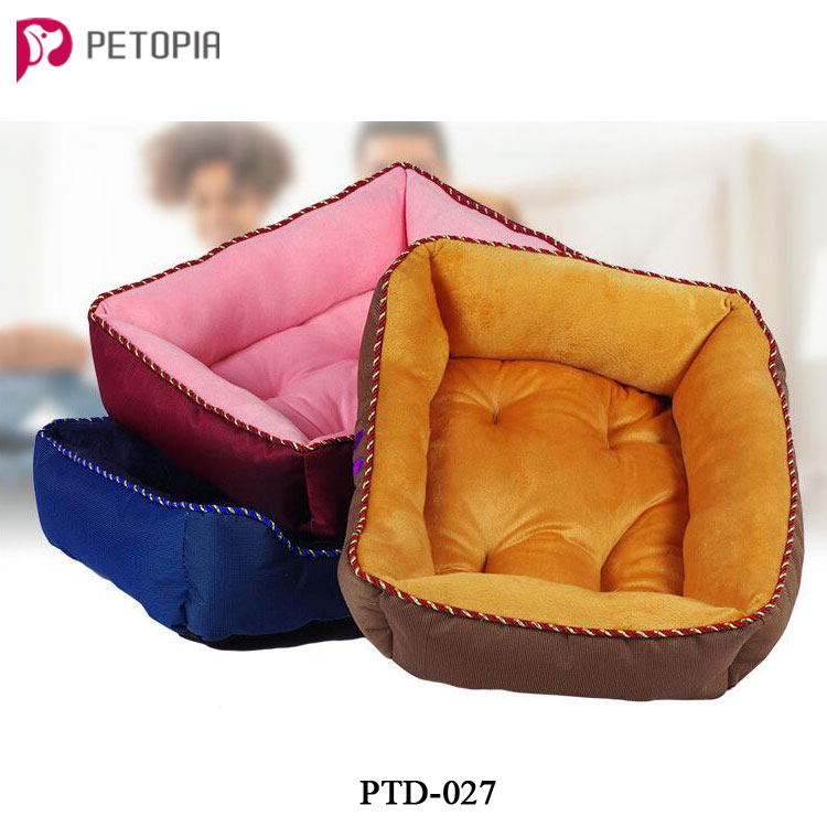 Rectangle Short Plush Oxford Dog Cat Bed with 3 Sizes