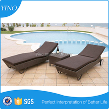 Hotel Swimming Pool Side Beach Bed Used Outdoor Lounge Furniture Lounge Chair SO0065