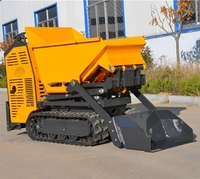 construction building machinery quick rear dumping self loading mini site dumper
