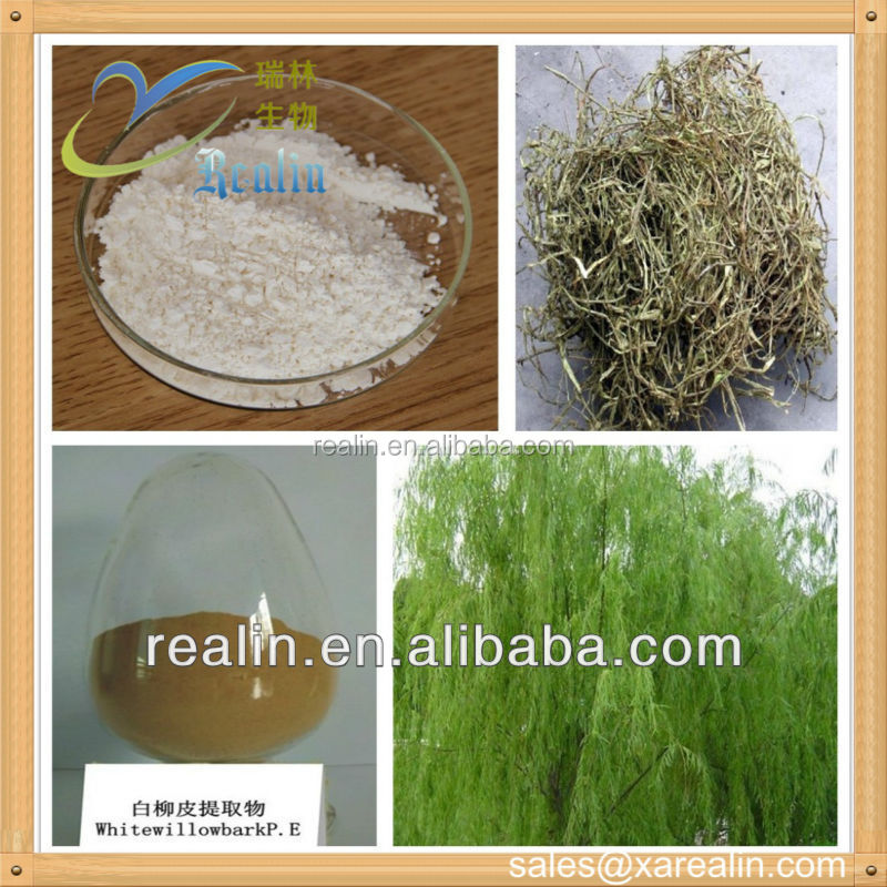 white willow bark extract/ cosmetic salicin powder 99% purity