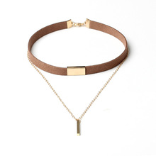 Fashion Popular Women Gold Choker Necklace Wholesale NSNK-5000