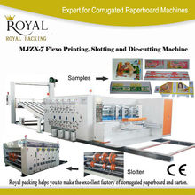 MJZX-7 High speed carton flexo printing slotting die cutting machine