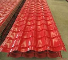 cheap DX51D color coated zinc steel corrugated roofing tiles