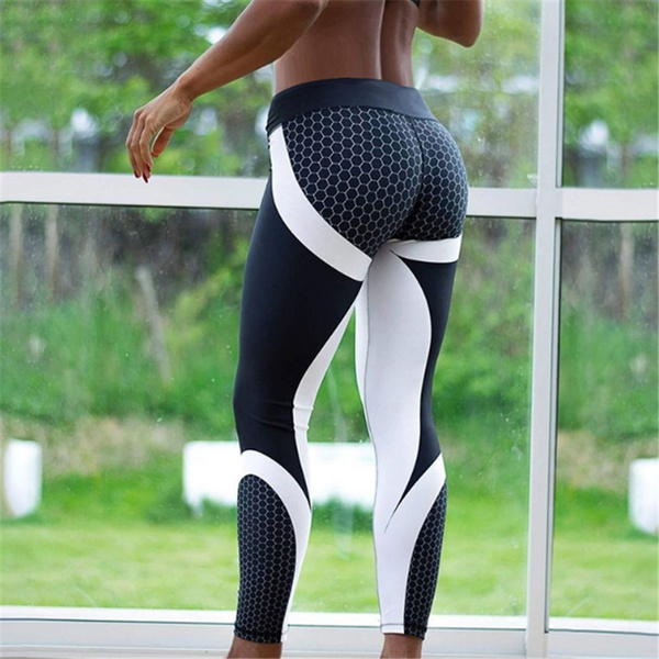 Yoga Fitness Leggings Sports Elastic Breathable Female Tights Running Sexy Slim pant
