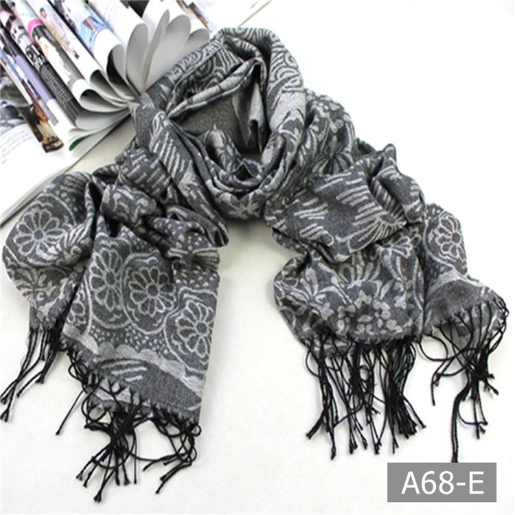 A68 Beautiful hot sale printed polyester pashmina scarf shawl wraps