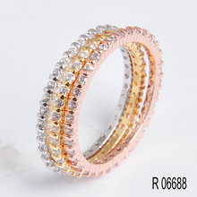 925 Sterling Silver Wedding Jewelry Ring/ Fashion Rose Gold Jewelry Ring Set