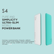 Puridea S4 6600 mAh Power Bank, Dual USB Portable Charger External Battery Backup Pack for Apple iPhone 4 5 6 Plus Samsung