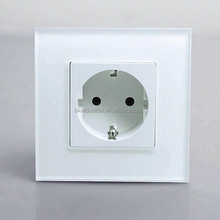 ABS PC Outlets White European Socket FacePlate Plug on Promotion