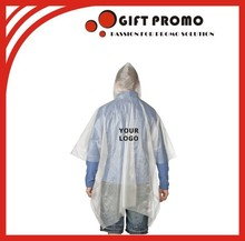 Wholesale Custom Printed Raincoat Disposable Rain Poncho