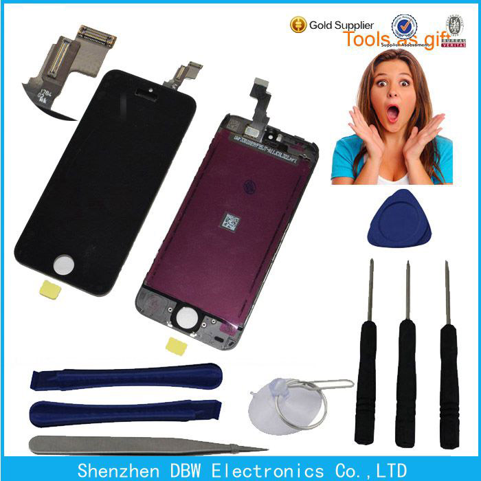 Mobile lcd touch screen and digitizer replacement parts for iphone 5c, Top quality