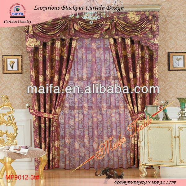 2012 New Curtain Designs for Luxurious Readymade Curtain Design