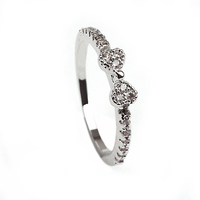 Wholesale Finger Ring With Mirco Pave Lovely Bow Ring For Valentines Day Gift
