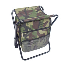 Multifunction Folding Sturdy Convenient Durable Fishing Backpack Stool with Cooler Bag