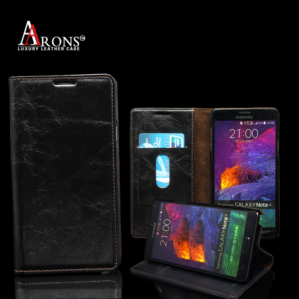 Wallet opening case crazy horse black leather case for samsung galaxy trend 2 lite g318