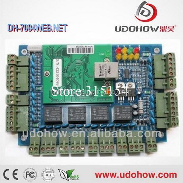 Biometric access control security system 4 door access control board with time attendance function contain free software