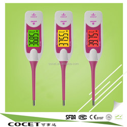 high quality new led backlight home and family used waterproof digital thermometer