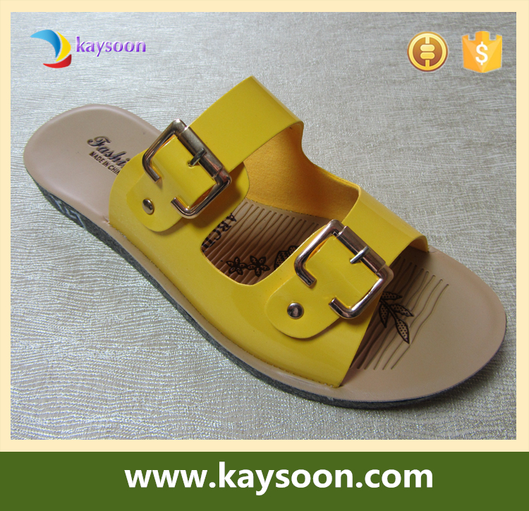 2017 flat sandal new design women leather slipper china wholesale colorful sandals