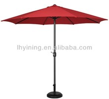 Waterproof 9feet patio beer band printing advert umbrella with airvent