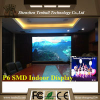 P6 led screen,6mm pixels led screen,P2.5/P3/P4/P5/P6/P7.62/P10smd full color indoor display