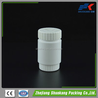 100ml HDPE plastic medicine bottle / medical jar sealing / screen printing plastic tablet container