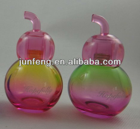 50ML round cute glass perfume bottle for woman