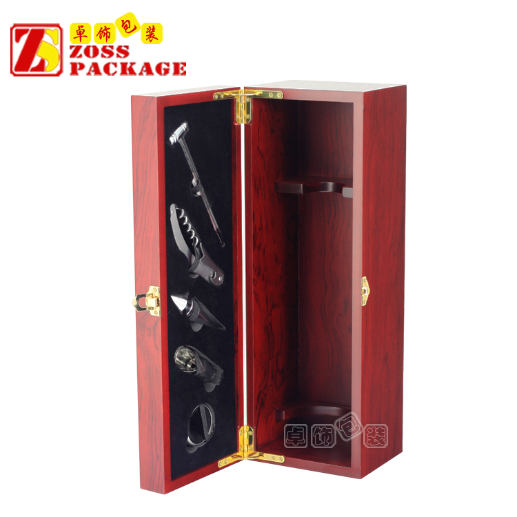 China Luxury Single wood box for wine glasses