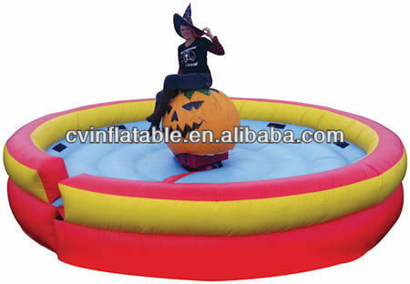 inflatable mechanical rodeo bull