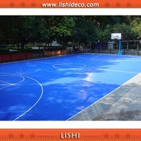 Removable Indoor And Outdoor Portable Interlocking Basketball Court Floor