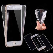 360 Degrees Full Cover Tpu Phone Case For iphone 7 plus phone case Crystal Clear Case