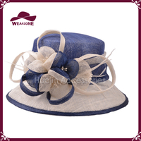 Hot sale church hat embossed women hat cheap sinamay hat