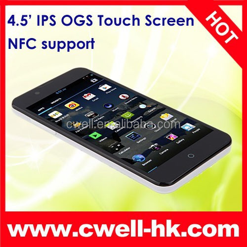 Qualcomm Snapdragon S4 RAM 1G ROM 4G Cell Phone FAEA F1 4.5'' Quad Core Android 4.1 Mobile Phone OEM Phone