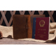 Vintage leather two pockets passport holders for businessmen crazy horse leather travel accessories passport case