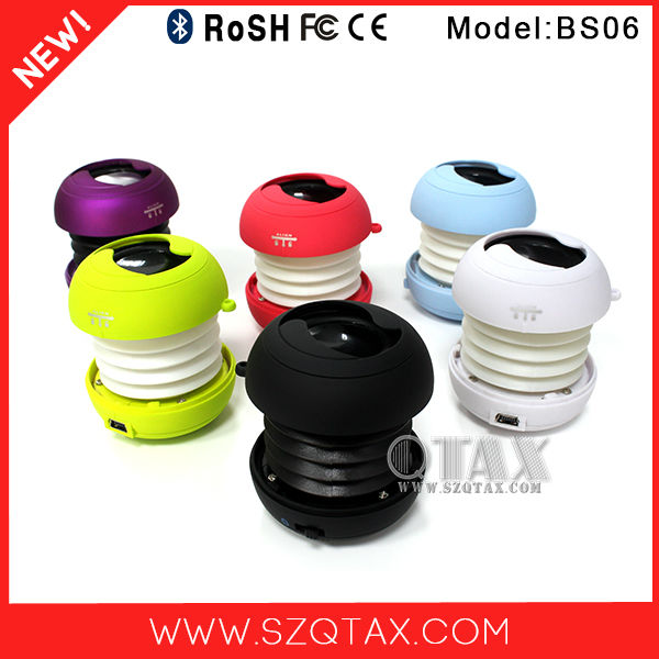 Travel products 2015 patent 3W bluetooth device mini subwoofer speaker for <strong>mp3</strong>