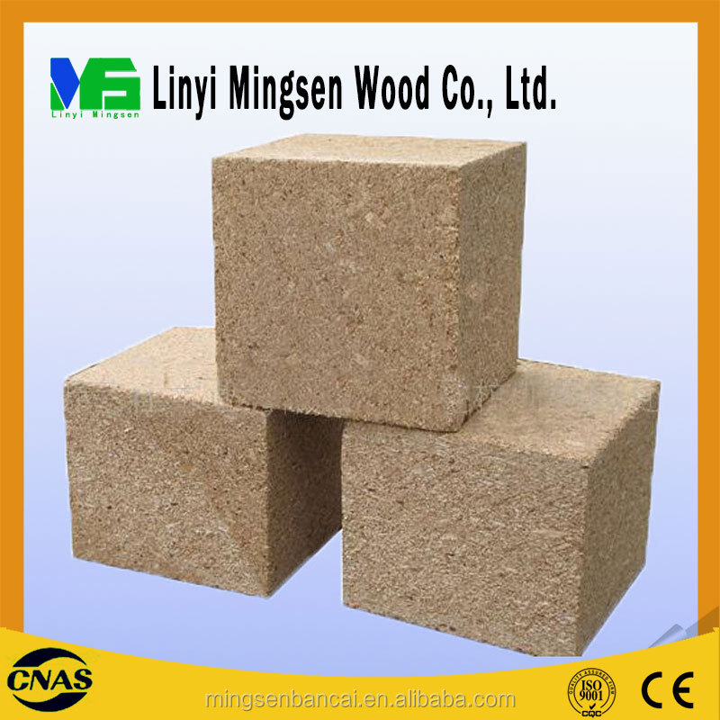 wood dust/wood particles/ chip block compressed with glue