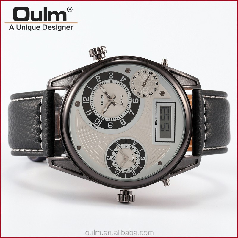 multi zone watch, watches express in alibaba, leather straps watch