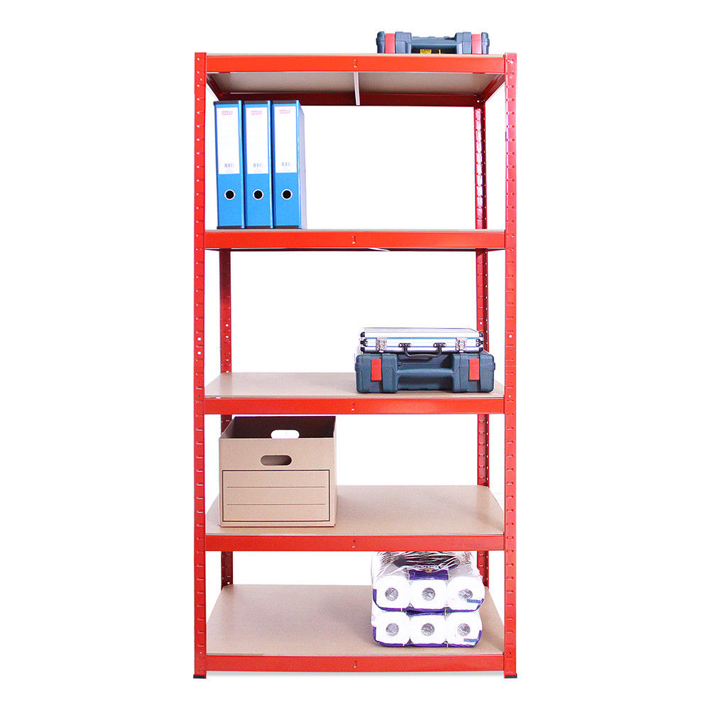 Heavy Duty Steel Shelves Racking Shelving Bays 5Tier Garage Unit Storage <strong>Racks</strong> 180 x 90 x 45 cm