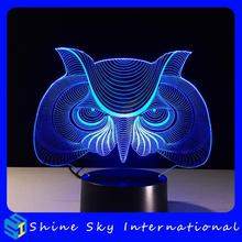 Popular product 7 colors table top night light,baby wall night light,3d light with usb cord