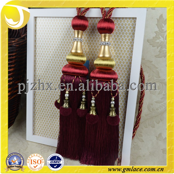 fringe curtain decorative tassels for curtain