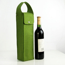 China wholesale custom red wine bottle carry bag christmas felt wine gift bag