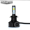 Tri-color bright led headlight 70W 10000lm H1 3 in 1 auto led headlamp fan inside 3570 led chip car led headlight