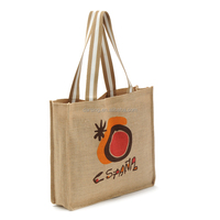 Wholesale eco standard size cheap burlap jute shopping tote bag manufacturer