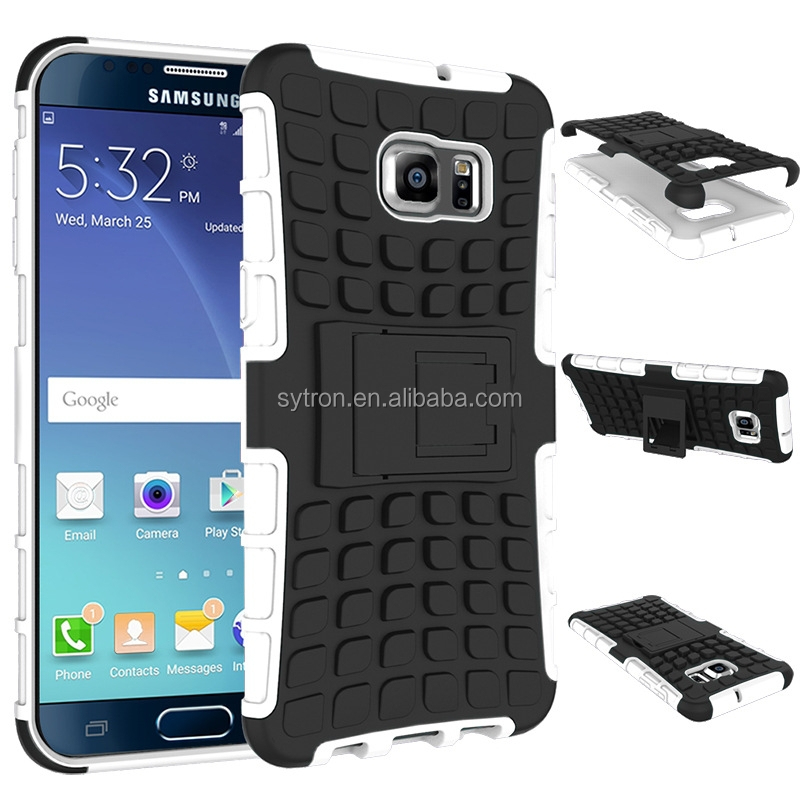 tpu pc 2 in 1 armor design cell phone case for samsung galaxy s6 edge plus