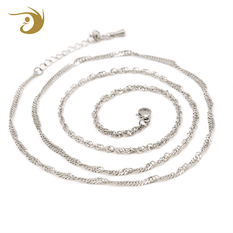 Dongguan Fashion Necklace Jewelry Chain Roll Pendant Small Stainless Steel Chain