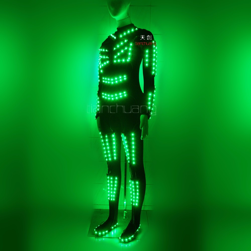 dmx led leotard, led dance leotard
