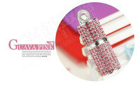 16gb Hot Sale Crystal Asymmetric Heart Shape Jewelry Necklace USB Flash Pen Drive Pendrive Memory Sticks 8GB U Disk
