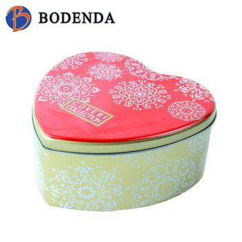 empty heart shaped christmas candy tins