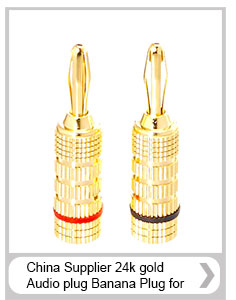 stackable golden plated pure copper banana plug in wire connectors headset