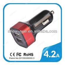 New usb car charger for australia UK USA Euro