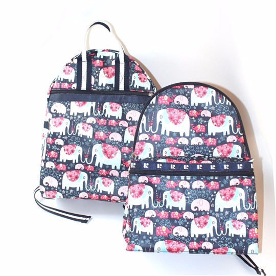 attractive trolley school backpack bag for children with foldable alphabet print backpack foam pad wild animal backpack