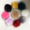 wholesale price imitation fur ball fake fur pompom manufacturer bag charm fur